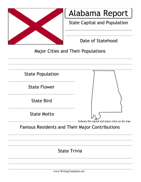 Alabama State Prompt Writing Template