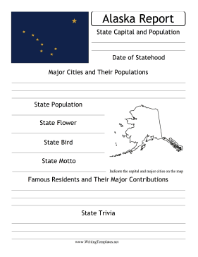 Alaska State Prompt Writing Template