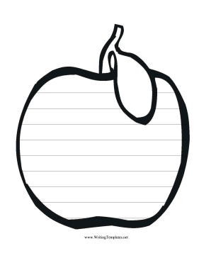Apple Writing Template Writing Template