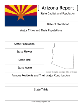 Arizona State Prompt Writing Template