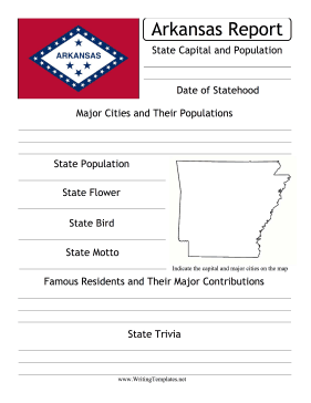 Arkansas State Prompt Writing Template