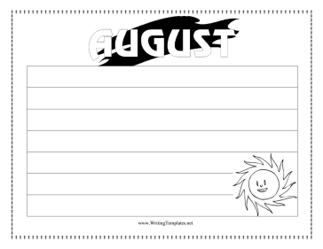 August Writing Template Writing Template