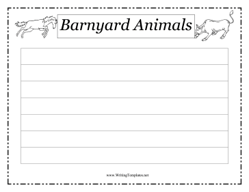 Barnyard Animals Writing Template Writing Template