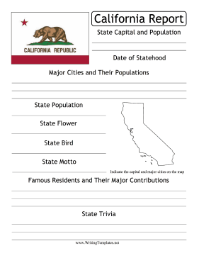 California State Prompt Writing Template