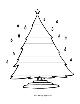 Christmas Tree Writing Template Writing Template