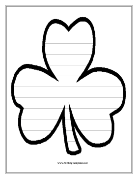 Clover Writing Template Writing Template