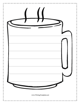 Coffee Writing Template Writing Template
