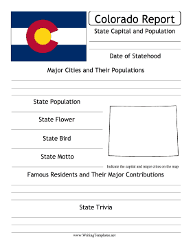 Colorado State Prompt Writing Template