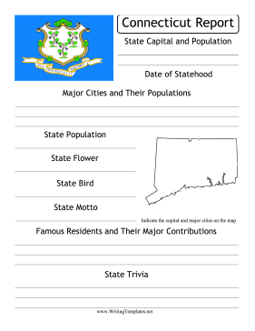 Connecticut State Prompt Writing Template