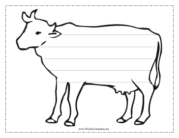 Cow Writing Template Writing Template