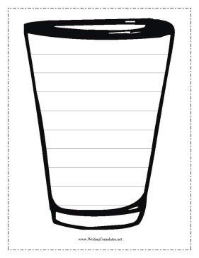 Cup Writing Template Writing Template
