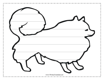 Dog Writing Template Writing Template