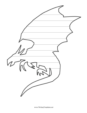 Dragon Writing Template Writing Template