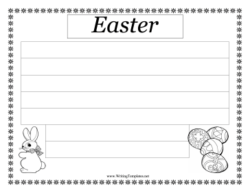 Easter Writing Template Writing Template