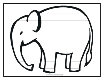 Elephant Writing Template Writing Template