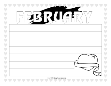 February Writing Template Writing Template