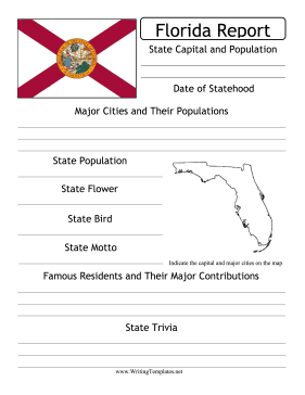 Florida State Prompt Writing Template