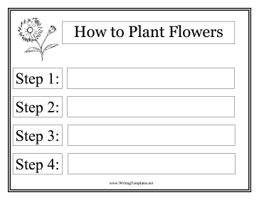 Flowers Instructional Template Writing Template