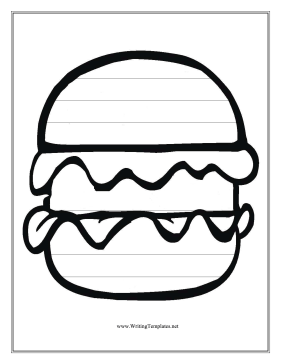 Hamburger Writing Template Writing Template