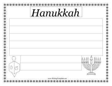 Hanukkah Writing Template Writing Template