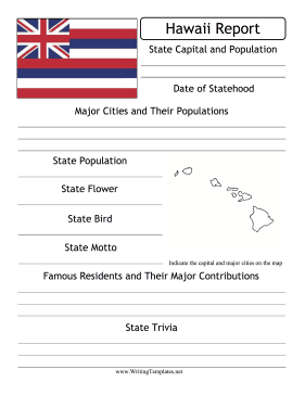 Hawaii State Prompt Writing Template
