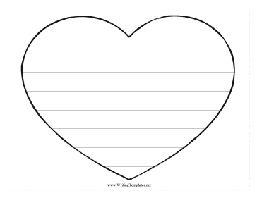 Heart Writing Template Writing Template