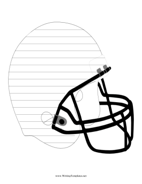 Helmet Writing Template Writing Template