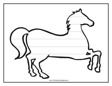 Horse Writing Template Writing Template