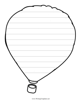 image about Hot Air Balloon Pattern Printable titled Incredibly hot Air Balloon Producing Template Composing Template