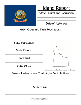 Idaho State Prompt Writing Template