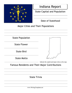 Indiana State Prompt Writing Template