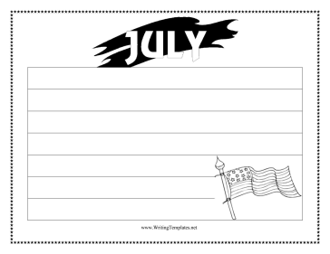 July Writing Template Writing Template