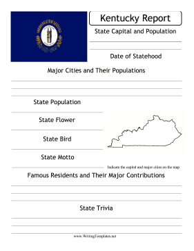 Kentucky State Prompt Writing Template