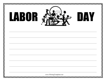 Labor Day Writing Template Writing Template