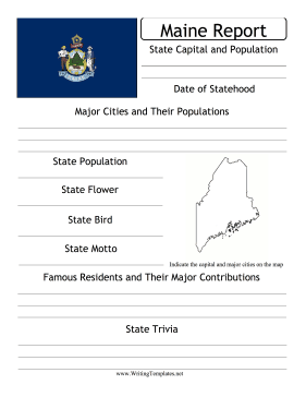 Maine State Prompt Writing Template