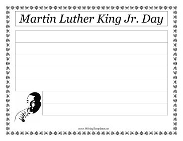 Martin Luther King Jr. Day Writing Template Writing Template