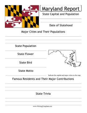 maryland state essay Notes on mcculloch vs maryland essays1 during the 1800's, when the nation was newly formed, the country was unsure as to how much power should the federal.