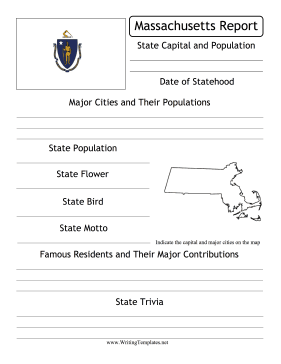 Massachusetts State Prompt Writing Template