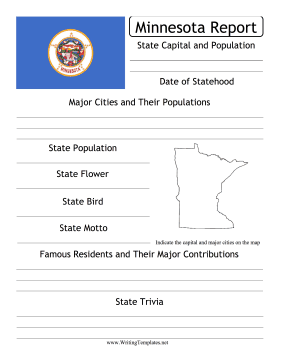 Minnesota State Prompt Writing Template
