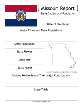Missouri State Prompt Writing Template