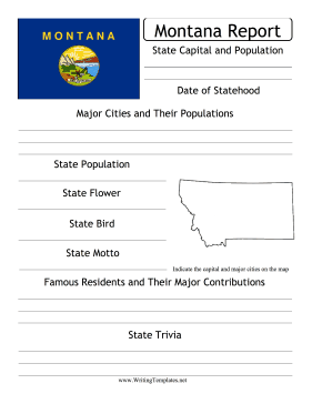 Montana State Prompt Writing Template