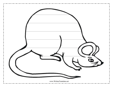 Mouse Writing Template Writing Template