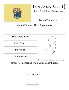 New Jersey State Prompt Writing Template