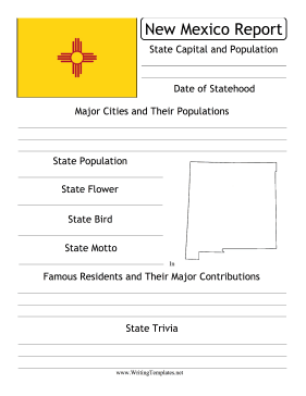 New Mexico State Prompt Writing Template