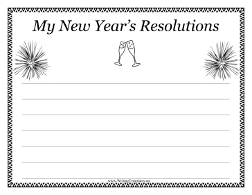 New Year Writing Template Writing Template