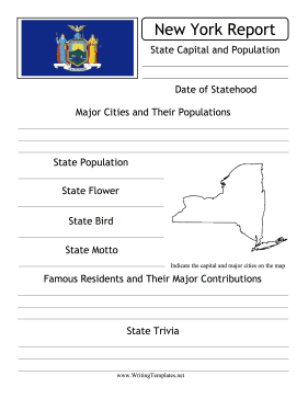 New York State Prompt Writing Template