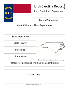 North Carolina State Prompt Writing Template