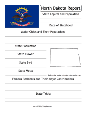 North Dakota State Prompt Writing Template