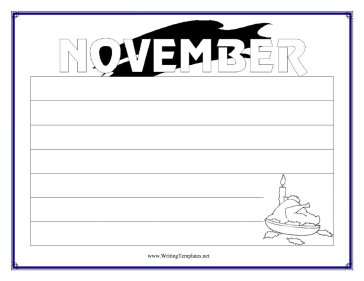 November Writing Template Writing Template