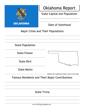 Oklahoma State Prompt Writing Template